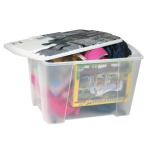 storage box rome polypropylene clear 565x39xh35 cm 1