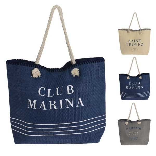 polyester beach bags different colors 51x40 cm