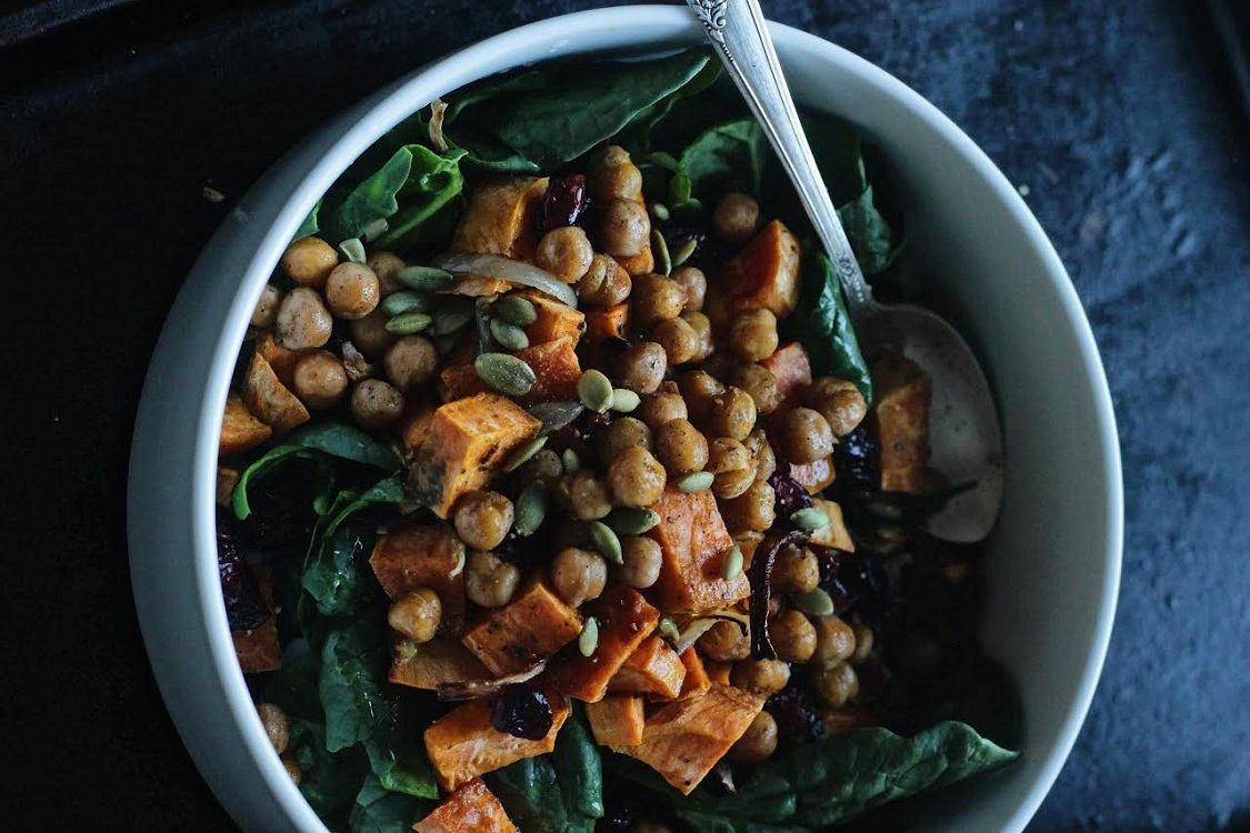 Chickpea Sweet Potato Salad