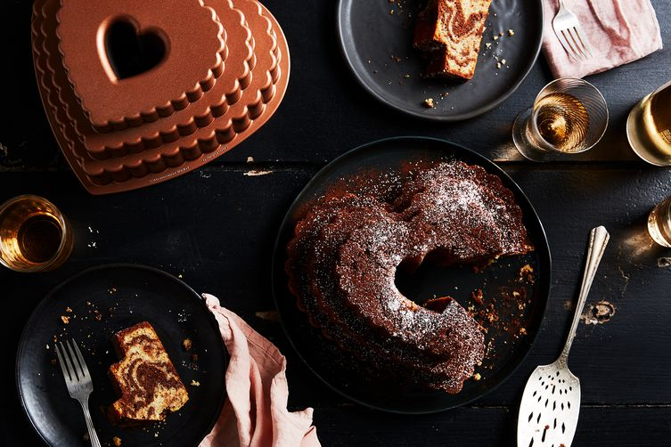 Mocha-Walnut Marbled Bundt Cake Recipe