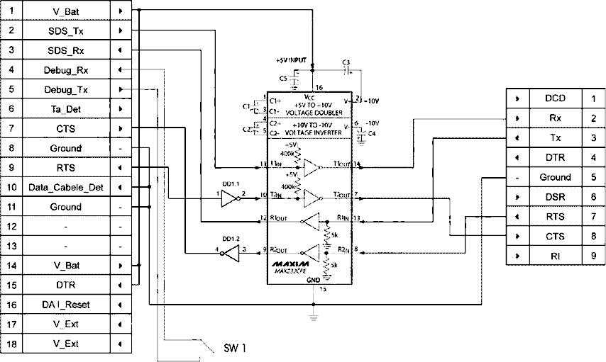 Cable description for Samsung C100 data/flash Cable Pinout