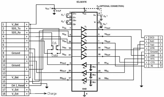 Pinout cable Samsung D100, E400, P100, P400, S200, S300