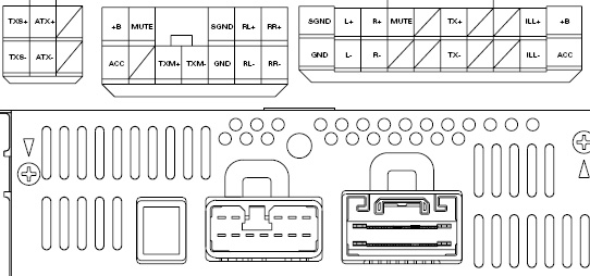 Lexus LS430 (2000-2001) P6814 Car Stereo pinout diagram