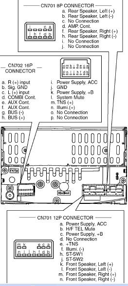 Mazda CQ-TT3070AA pinout diagram @ pinoutguide.com