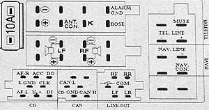 Audi Symphony II, Simphony II CQ-EA1362 pinout diagram