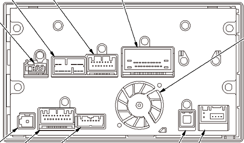 Honda CR-Z (2012-2016) Navigation Head Unit pinout diagram