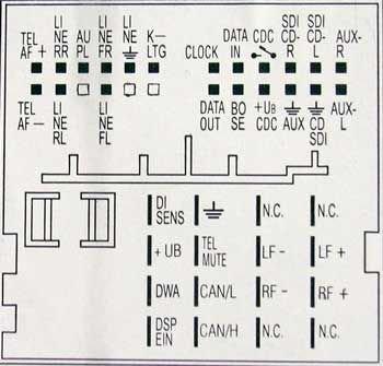 Audi Chorus EU TT pinout diagram @ pinoutguide.com