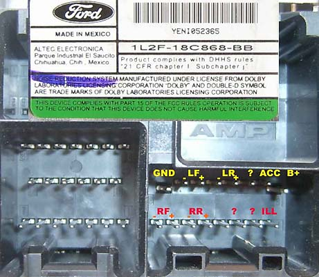 2007 Ford Fusion Ac Wiring Diagram Ford 2001 2005 Head Unit Pinout Diagram Pinoutguide Com