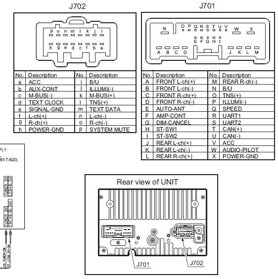 Mazda PT-2674J Head Unit pinout diagram @ pinoutguide.com
