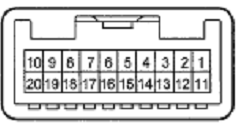 Toyota Highlander (2008-2013) 51857 Head Unit pinout
