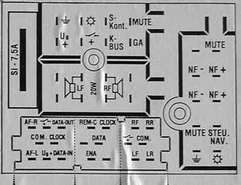 Audi Concert PLUS pinout diagram @ pinoutguide.com