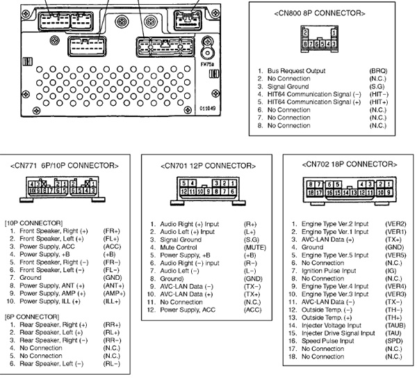 Wiring Diagram For Jvc Cd Player Toyota W58300 Head Unit Pinout Diagram Pinoutguide Com