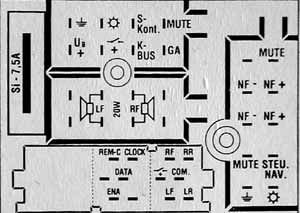Audi Chorus (Blaupunkt) pinout diagram @ pinoutguide.com