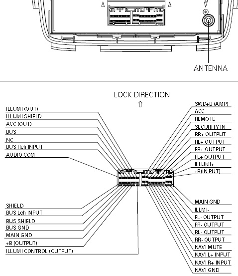 Acura FX-MG6006ZH BOSE changer pinout diagram