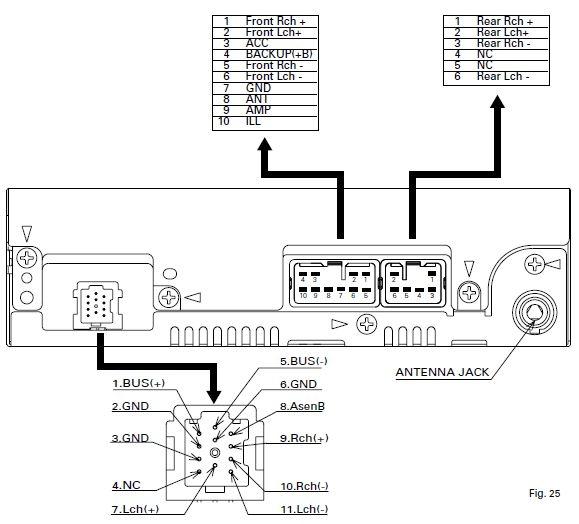 Daihatsu 16 pin Car Stereo pinout diagram @ pinoutguide.com