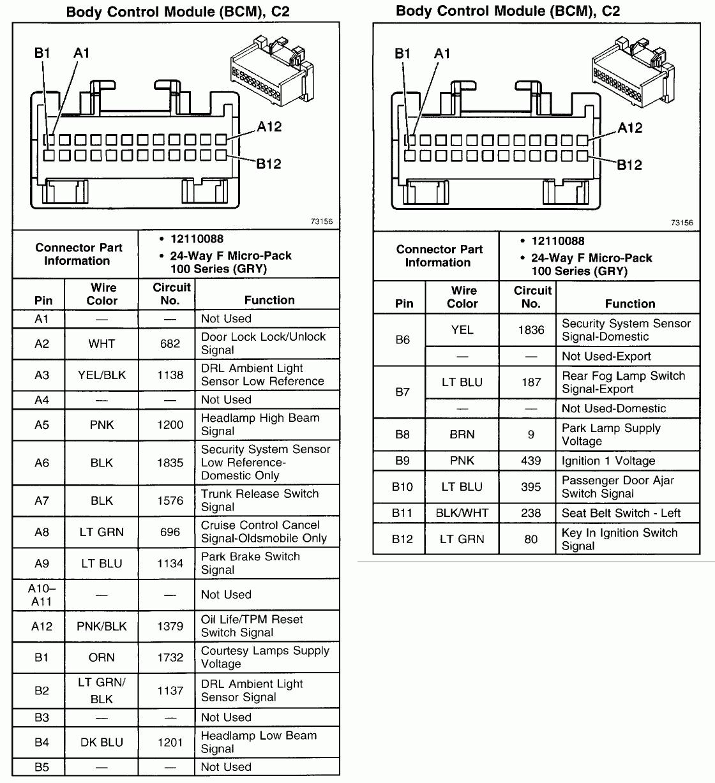 Pontiac Grand Am Car Stereo Pinout Diagram