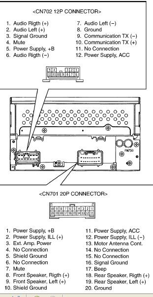 2000 Toyota Tundra Electrical Schematics Toyota 56816 Head Unit Pinout Diagram Pinoutguide Com