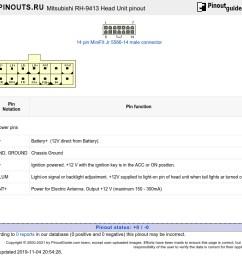 mitsubishi rh 9413 head unit diagram [ 1024 x 778 Pixel ]