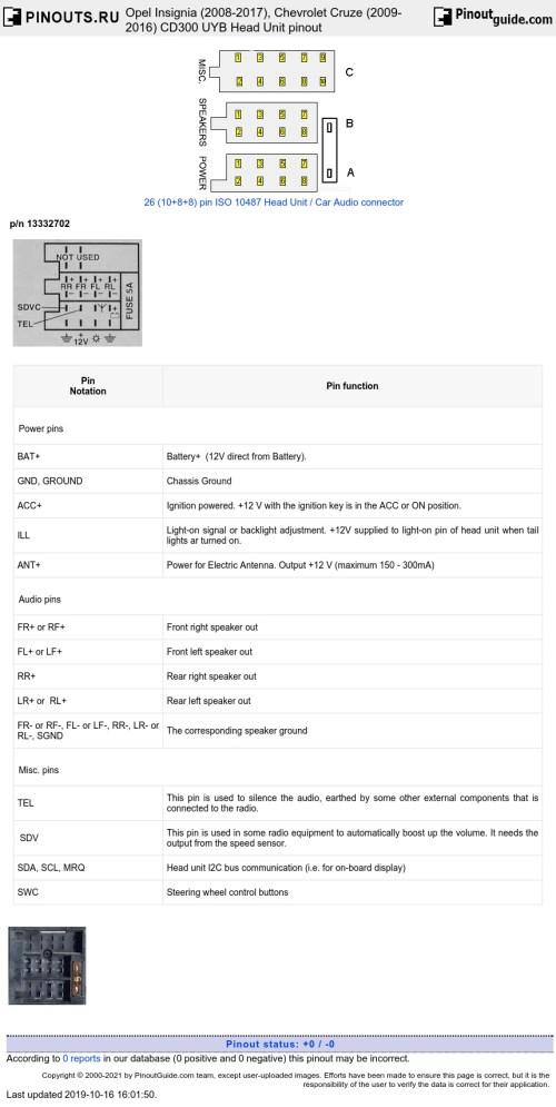 small resolution of opel cd300 head unit diagram