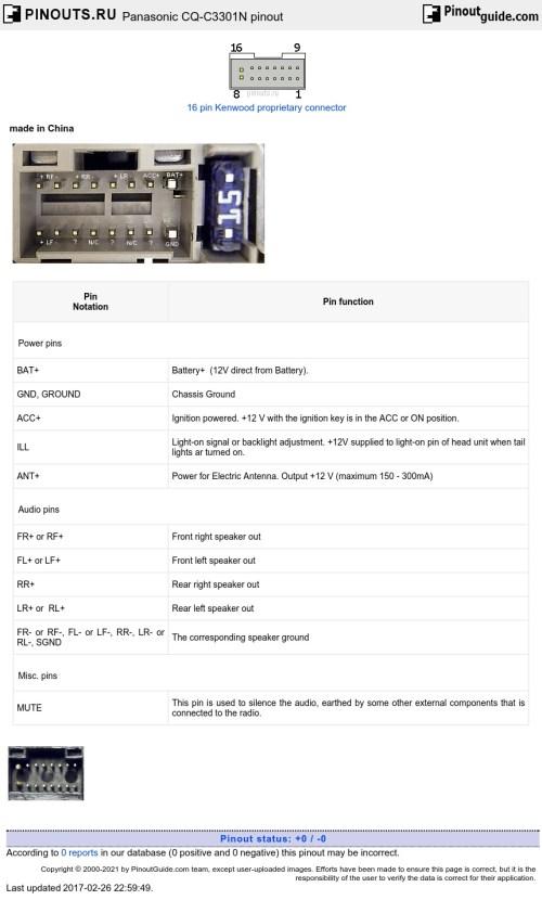 small resolution of pioneer avh 270bt wiring diagram panasonic radio wiring diagram panasonic cq c8100u wiring diagram