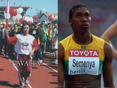 Nancy Navalta and Caster Semenya