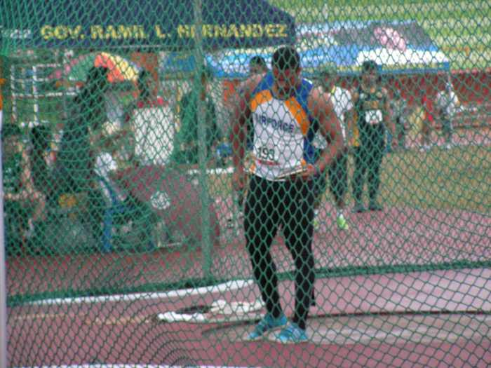 Stuart in action during the Discus Throw- Airnel T. Abarra
