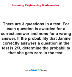 determine the probability that janine gets zero in the test [ 960 x 960 Pixel ]