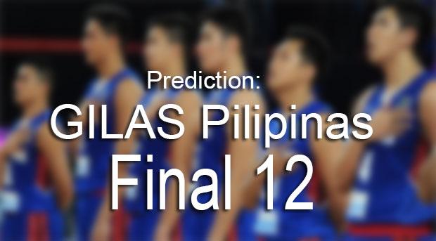 Prediction: Gilas Pilipinas Final 12