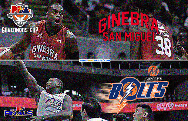 Ginebra vs Meralco 2017 PBA Govenors' Cup Finals