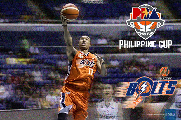 Meralco Bolts Roster - 2017-18 PBA Philippine Cup