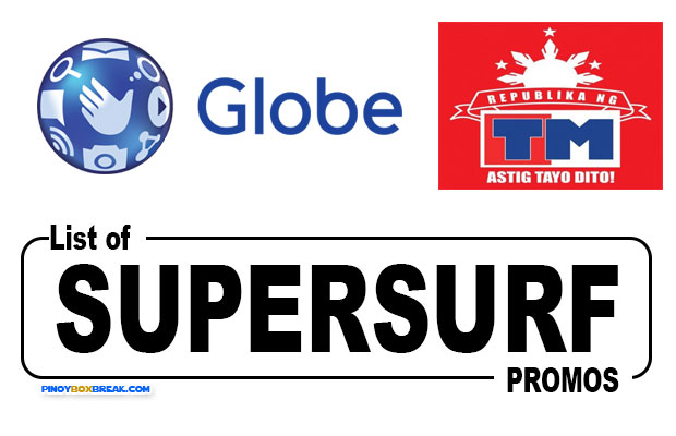 List of Globe and Touch Mobile (TM) SuperSurf Unli Internet Promos 2018