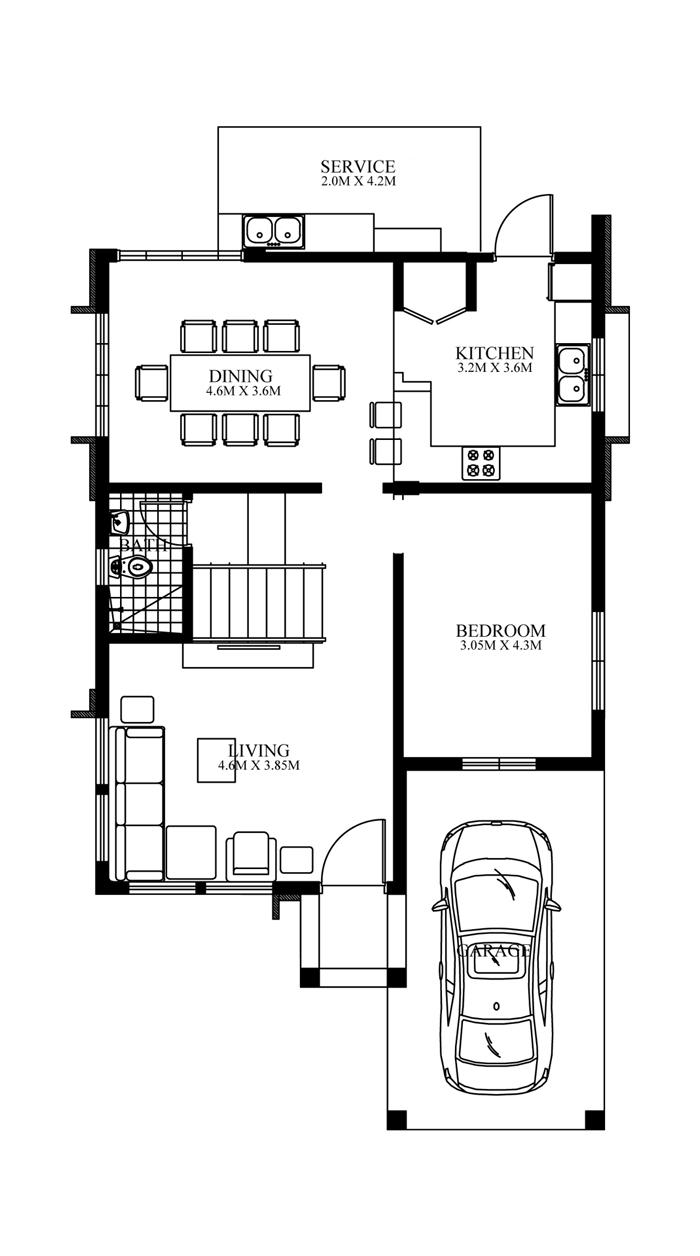 Contemporary House Design-2015020-ground-floor-plan