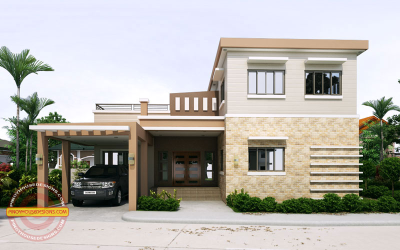 Ronaldo  Simple 2 Storey Cool House Plan  Pinoy House
