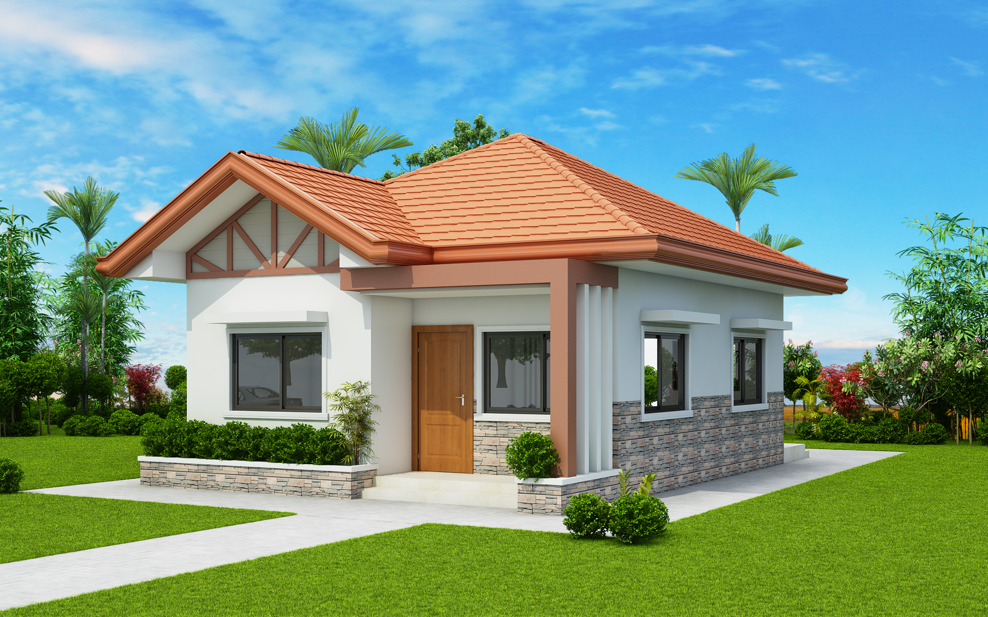 Two Bedroom Small House Design Phd 2017035 Pinoy House
