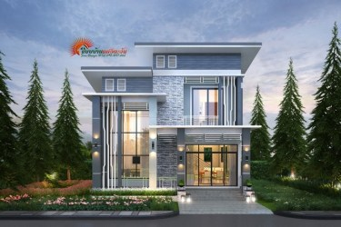 Modern two storey with four bedrooms Pinoy House Plans