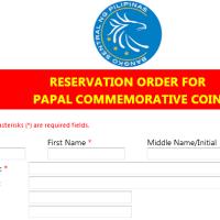 BSP papalcoin online reservation