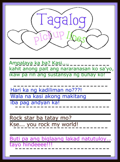 Pinoy Pick Up Lines : pinoy, lines, Lines, Tagalog, Funny, Pictures, Country