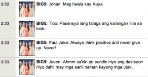 PBB Double Up Advice for aspiring PBB Teen Editio Clash of 2010 Housemates