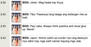 PBB Double Up Advice for aspiring PBB Teen Editio Clash of 2010 Housemates