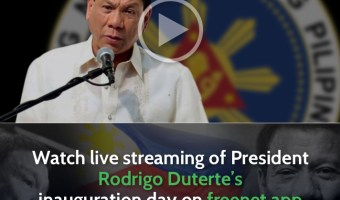 Free live streaming of DU30 inauguration via SMART freenet