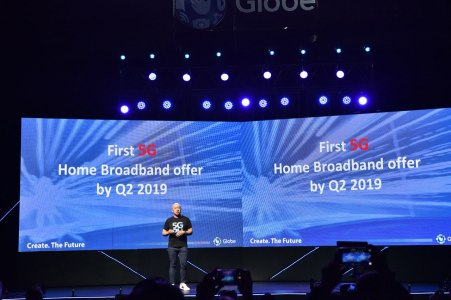 Globe President and CEO Ernest Cu announces Globe to be among the 1st carriers to commercially rollout 5G services in the Philippines