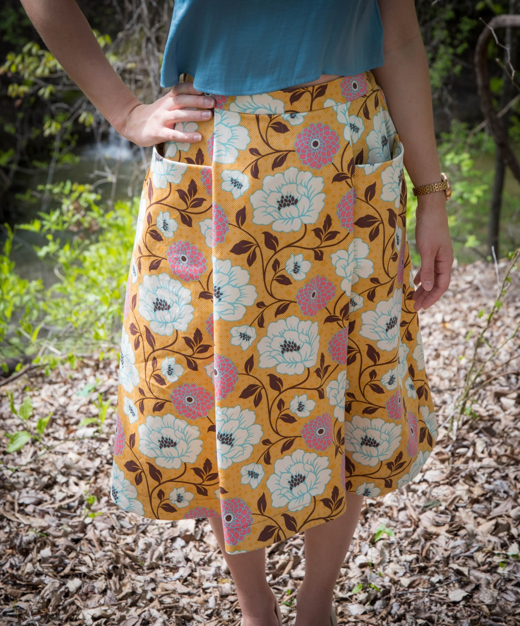sewing the Patti Pocket Skirt
