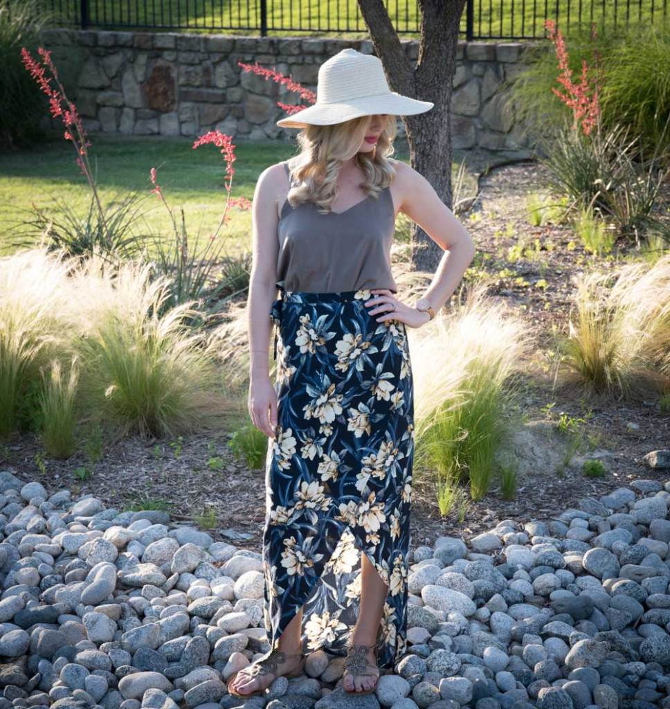 sewing the Rosy Peña Wrap Skirt