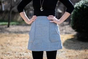 sewing Camden skirt