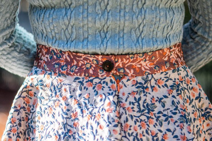 sewing the Fibre Mood Claudie skirt
