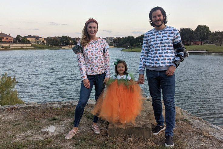 sewing Pumpkin Patch costumes for Halloween