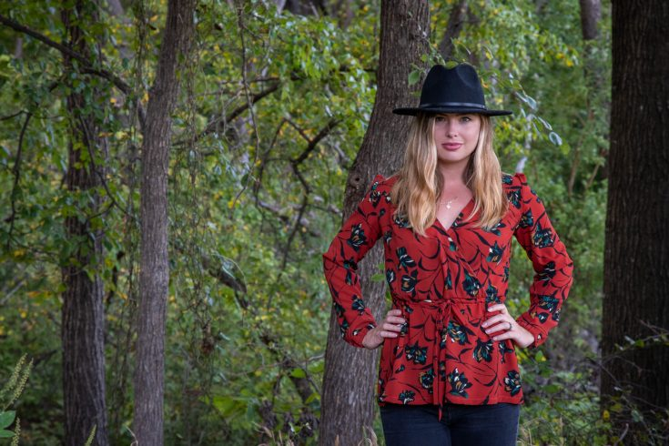 sewing the Autumn Orchid Midi Top Hack
