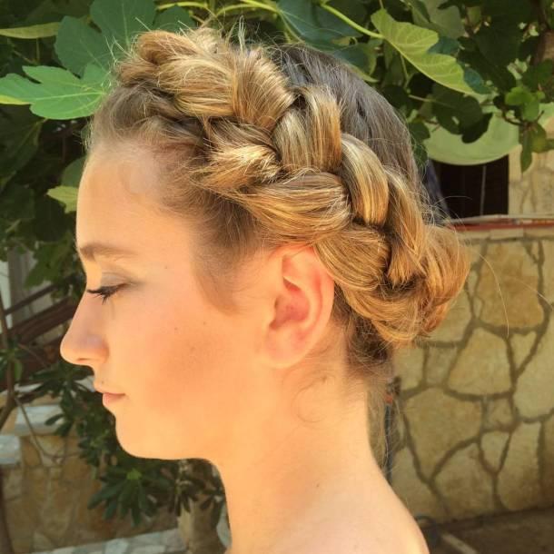Beautiful big Dutch braid for the wedding wedding wedding hairhellip