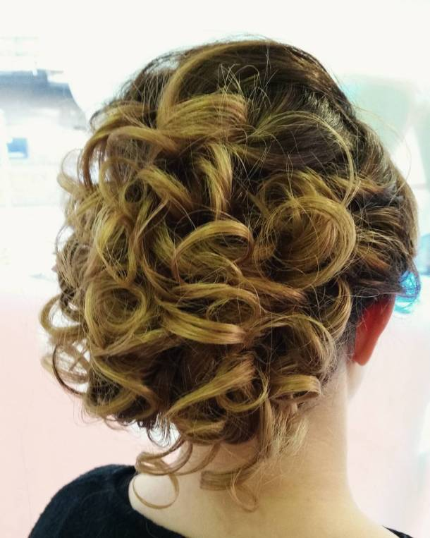 Christmas party hairstyle from youthsalon made by pinsandpolish hairdresser hairstylehellip