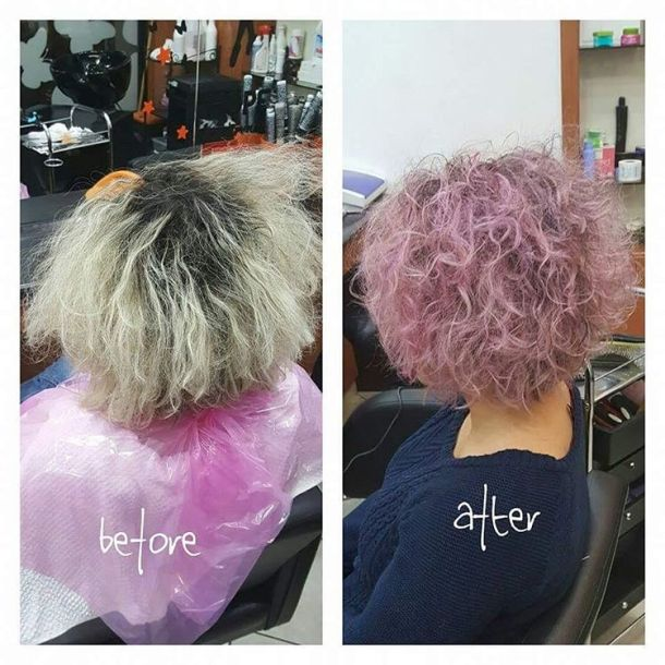 Hair like cotton candy hairstyle pink curly cottoncandy hairdresser